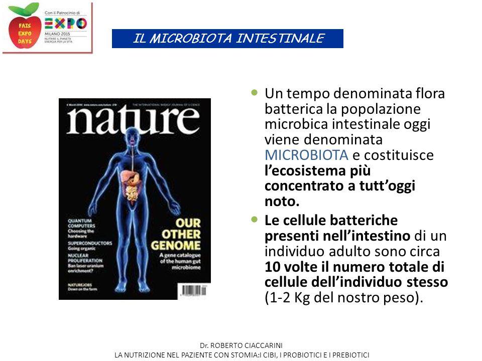 Un tempo denominata flora batterica la popolazione microbica intestinale oggi viene denominata MICROBIOTA e costituisce l'ecosistema più concentrato a