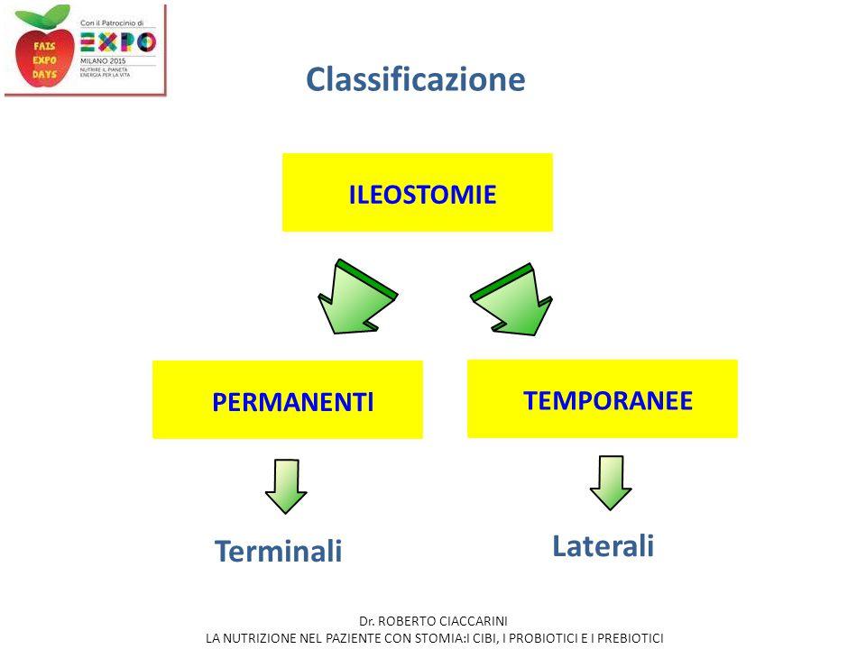 Indicazioni  Rettocolite ulcerosa  Morbo di Crohn  Poliposi ereditarie (Poliposi multipla familiare, sindrome di Gardner, sindrome di Turcot)  Neoplasie multiple del grosso intestino  Traumi ILEOSTOMIA PERMANENTE IN CASO DI NECESSITA' DI ESCLUSIONE PERMANENTE DEL TRANSITO INTESTINALE FISIOLOGICO (DOPO COLECTOMIA o PROCTOCOLECTOMIA TOTALE) Dr.
