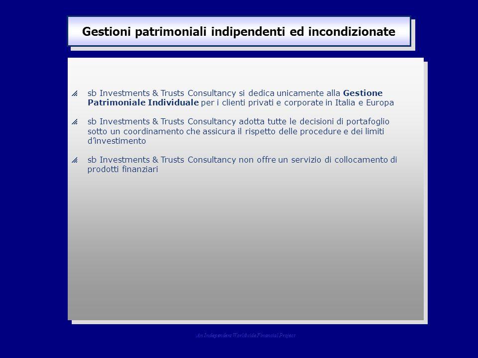  sb Investments & Trusts Consultancy si dedica unicamente alla Gestione Patrimoniale Individuale per i clienti privati e corporate in Italia e Europa