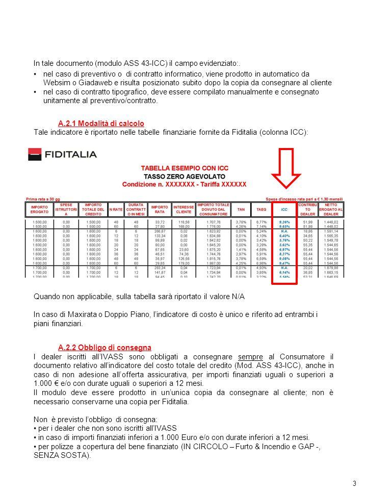 3 In tale documento (modulo ASS 43-ICC) il campo evidenziato:. nel caso di preventivo o di contratto informatico, viene prodotto in automatico da Webs