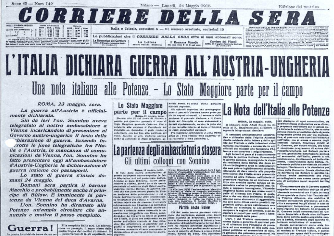 Lettere dal fronte La grande guerra segnò la storia del nostro Paese e dell'Europa intera.