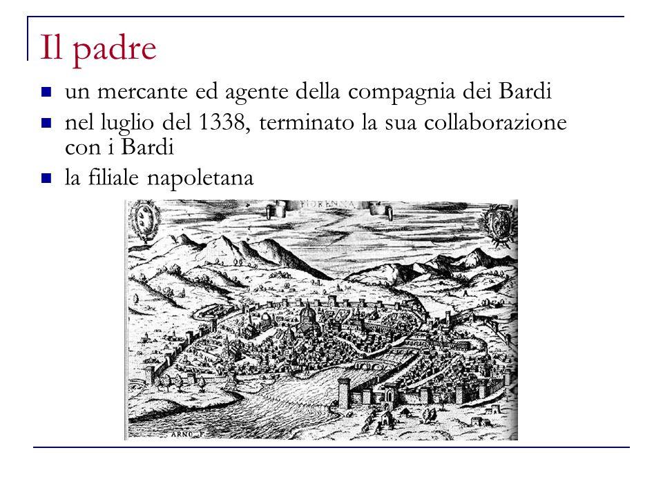 Il padre un mercante ed agente della compagnia dei Bardi nel luglio del 1338, terminato la sua collaborazione con i Bardi la filiale napoletana