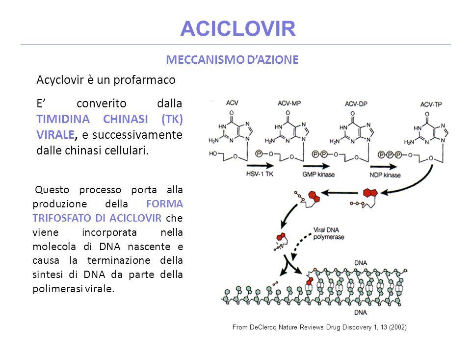 FOSCARNET Pirofosfato inorganico TOSSICITA' Tossicità renale (45%) Aumento della creatininemia (necrosi tubulare reversibile dose dipendente, attenzione all idratazione) Anemia (20 - 30%) Disturbi gastroenterici (20 - 30%) Nausea e Vomito Disturbi elettrolitici (15 - 43%) Ipercalcemia, Ipocalcemia, Ipokaliemia, Ipomagnesiemia Ipofosfatemia e Iperfosfatemia (6-8%) Convulsioni (10%) Ulcerazioni genitali (3 - 9%)