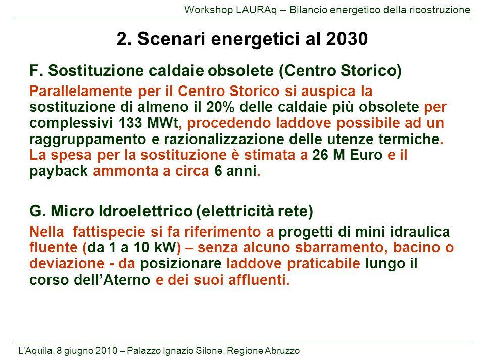 L'Aquila, 8 giugno 2010 – Palazzo Ignazio Silone, Regione Abruzzo Workshop LAURAq – Bilancio energetico della ricostruzione F. Sostituzione caldaie ob