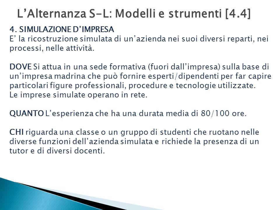 L'Alternanza S-L: Modelli e strumenti [4.4] 4.