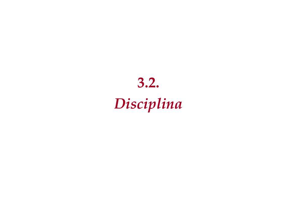 3.2. Disciplina