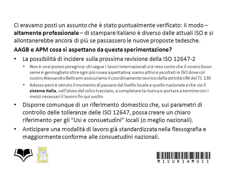 Ci eravamo posti un assunto che è stato puntualmente verificato: il modo – altamente professionale – di stampare italiano è diverso dalle attuali ISO e si allontanerebbe ancora di più se passassero le nuove proposte tedesche.
