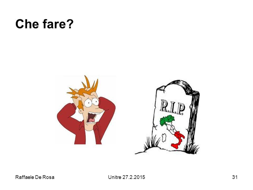 Raffaele De RosaUnitre 27.2.201531 Che fare?