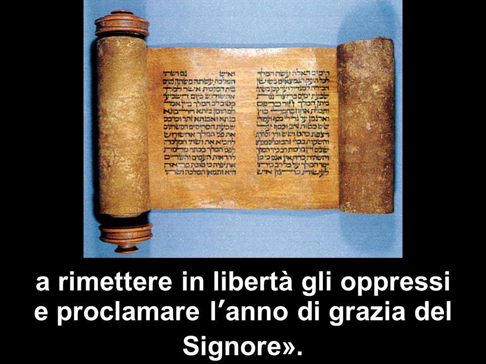 Matteo 3,1-12 a rimettere in libertà gli oppressi e proclamare l'anno di grazia del Signore».