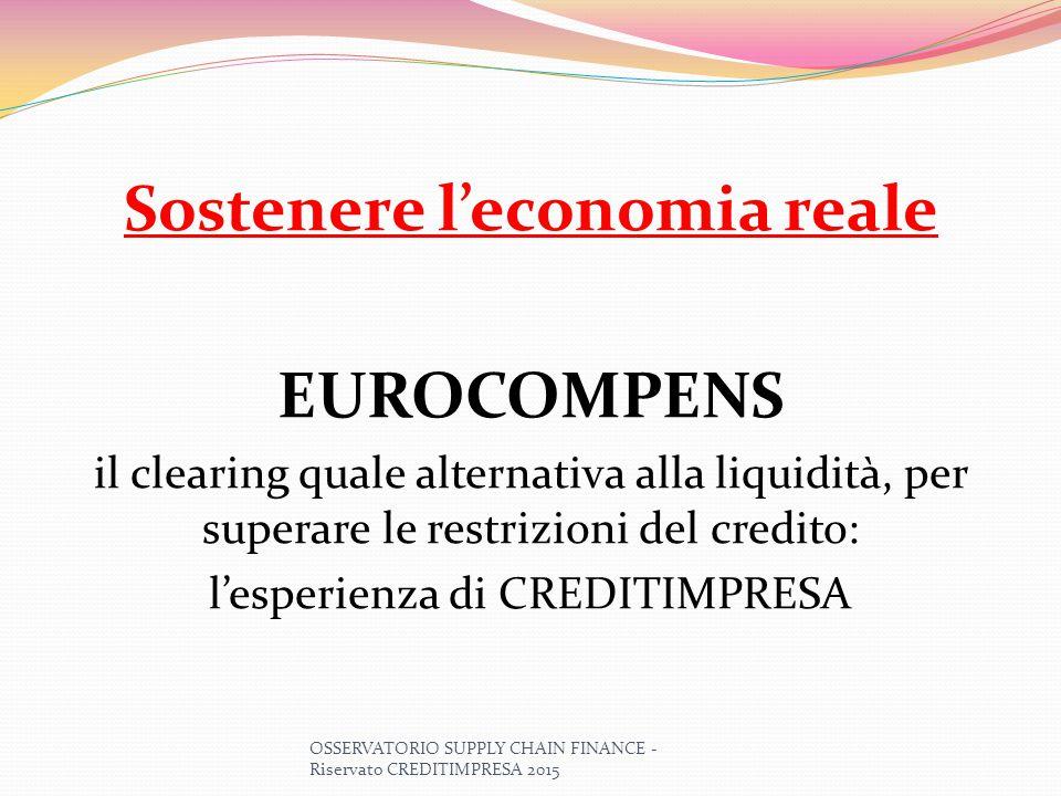 Sostenere l'economia reale EUROCOMPENS il clearing quale alternativa alla liquidità, per superare le restrizioni del credito: l'esperienza di CREDITIM