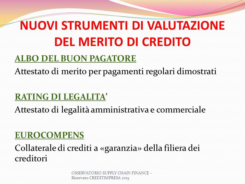 ALBO DEL BUON PAGATORE LA PRIMA ESPERIENZA IN EUROPA PER LE IMPRESE VIRTUOSE I REGOLARI PAGAMENTI, alla scadenza, SONO UNA PRATICA MINORITARIA: in Italia il 65% delle imprese paga in ritardo o non paga proprio (in primis la P.A.) 1) FINALITA' DELL'ALBO: favorire la diffusione dei comportamenti virtuosi, anche se da ritenersi normali, come previsto dalla Direttiva UE n.