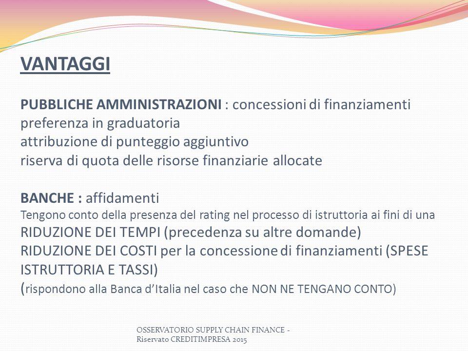 VANTAGGI PUBBLICHE AMMINISTRAZIONI : concessioni di finanziamenti preferenza in graduatoria attribuzione di punteggio aggiuntivo riserva di quota dell