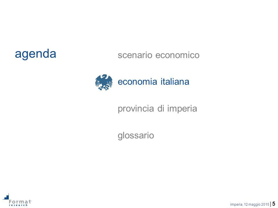 imperia, 12 maggio 2015 | 6 prodotto interno lordo | …la flessione del PIL nel 2014, rispetto al 2013, è pari a -0,4%...