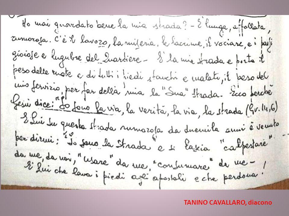 TANINO CAVALLARO, diacono 15