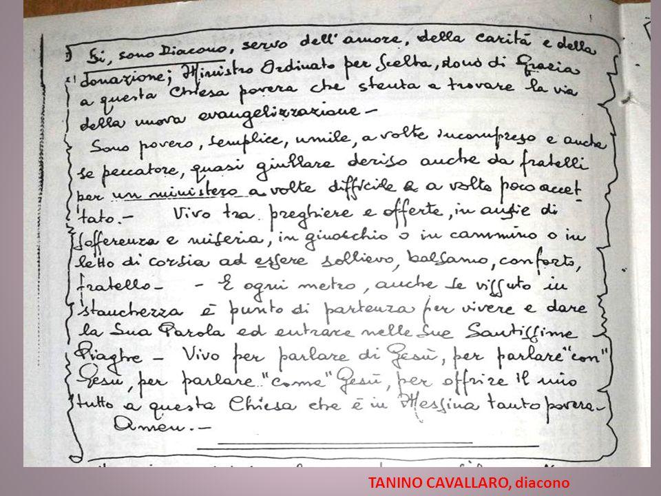 TANINO CAVALLARO, diacono 16