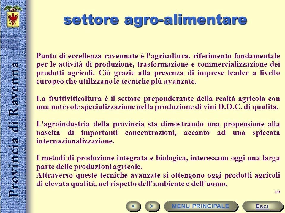 18 A Ravenna contano di più agricoltura e servizi. La ripartizione settoriale del valore aggiunto mostra la specificità della economia provinciale ris