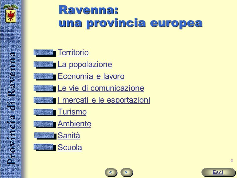 Provincia di Ravenna Breve guida Esci > > Ravenna dei popoli provincia del mondo