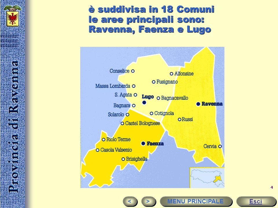 3 Il territorio Si estende a nord est della penisola italiana. Fa parte dell'Emilia-Romagna, una regione fondamentale in Europa per i rapporti economi