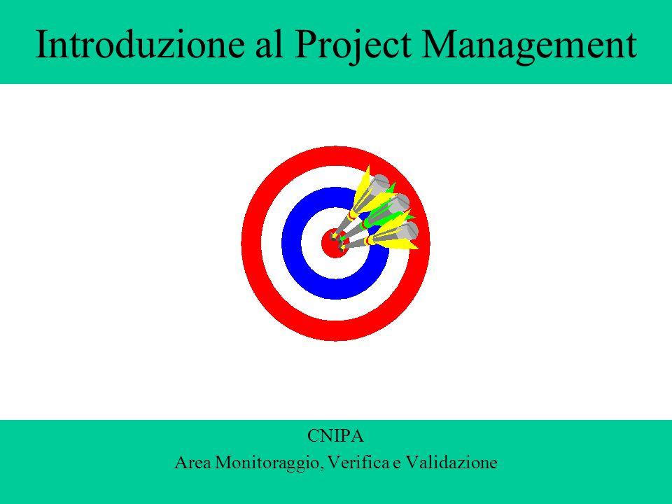 Introduzione al Project Management CNIPA Area Monitoraggio, Verifica e Validazione