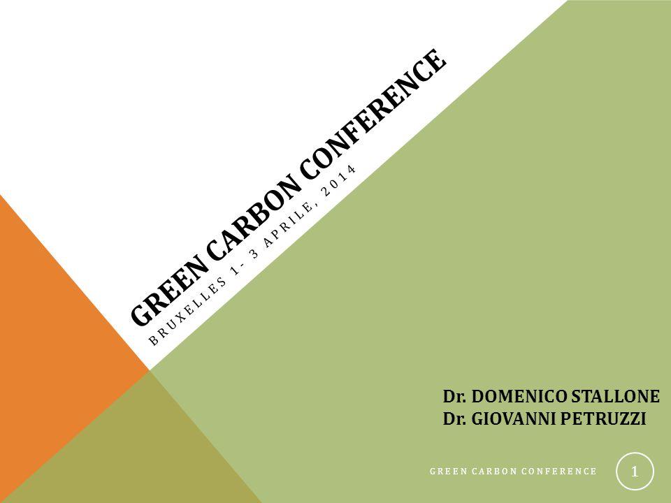GREEN CARBON CONFERENCE 22 Esempio di calcolo della Carbon Foot Print in una azienda viticola pugliese che esporta in Germania CONSERVATIVACONVENZIONALE PRODUZIONE50 t/ha/anno OUTPUTFertilizzanti, agrofarmaci, irrigazione, lavorazioni +1,5 tCO 2 eq/ha/anno+2,4 tCO 2 eq/ha/anno Respirazione del suolo+ 23 tCO 2 eq/ha/anno+21 tCO 2 eq/ha/anno INPUTCover crop, foglie, residui di potatura, turnover radicale, COMPOST -38 tCO 2 eq/ha/anno-16 tCO 2 eq/ha/anno TRASPORTO+0,272 tCO 2 eq/ha/anno TOTALE-12,3 tCO 2 eq/ha/anno+11,6 tCO 2 eq/ha/anno CARBON FOOT PRINT VALORI NEGATIVI INDICANO SEQUESTRO DEL CARBONIO -0,246 kgCO 2 eq/kg uva +0,232 kgCO 2 eq/kg uva Emissioni del trasporto calcolate considerando il trasporto dalla Puglia in Germania (1749 km) e di 150gCO 2 /km