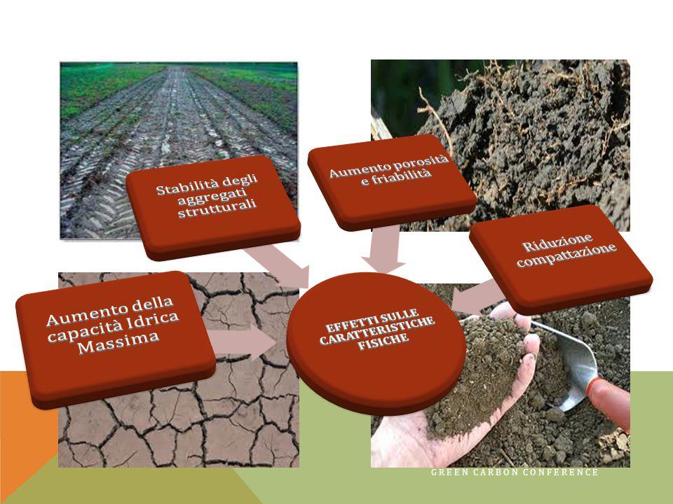9 L'acqua disponibile per le piante aumenta da 2 a 3 mm/10cm ogni incremento dell'1% di sostanza organica
