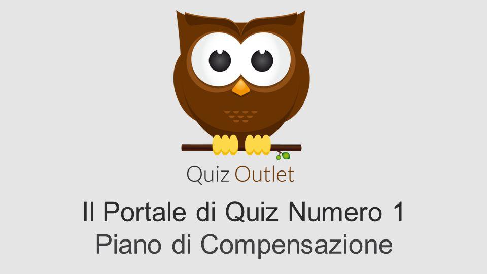 Il Portale di Quiz Numero 1 Piano di Compensazione