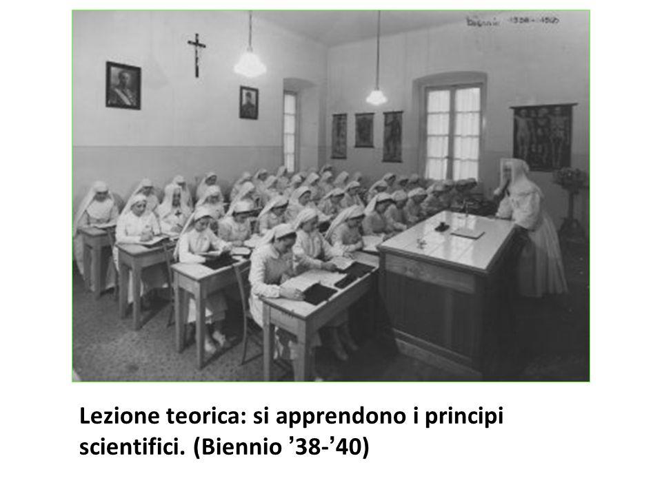 Lezione teorica: si apprendono i principi scientifici. (Biennio '38-'40)