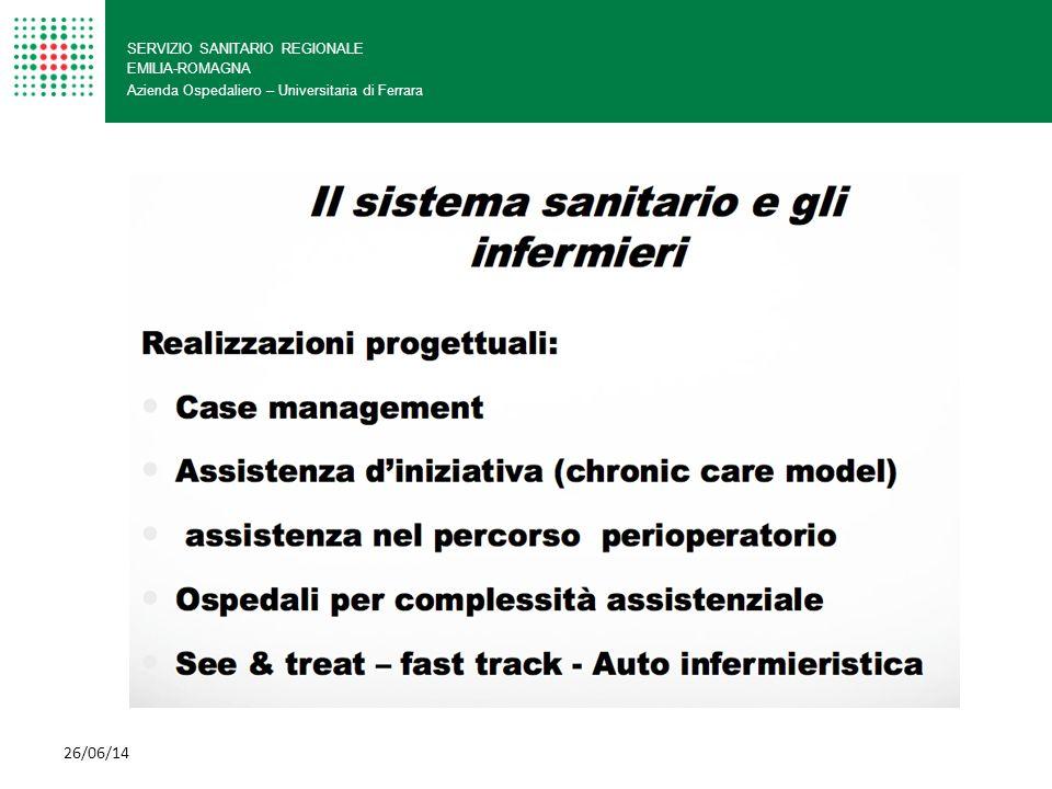 SERVIZIO SANITARIO REGIONALE EMILIA-ROMAGNA Azienda Ospedaliero – Universitaria di Ferrara 26/06/14