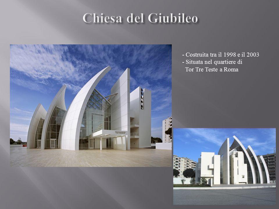 - Costruita tra il 1998 e il 2003 - Situata nel quartiere di Tor Tre Teste a Roma