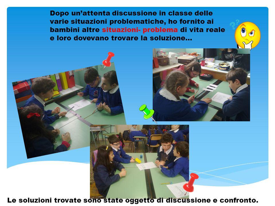 Divisi in gruppi i bambini hanno cercato di individuare le informazioni «spezzate», i dati, le parole chiave, la domanda…