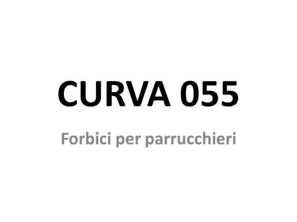 Forbici da parrucchieri Le forbici professionali da parrucchiere CURVA 055 sono state progettate ergonomicamente e sono altamente compatibili con le caratteristiche anatomiche del sistema mano-braccio.