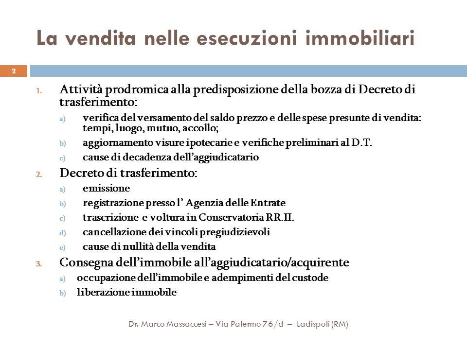 2.a – Emissione del Decreto di trasferimento Dr.