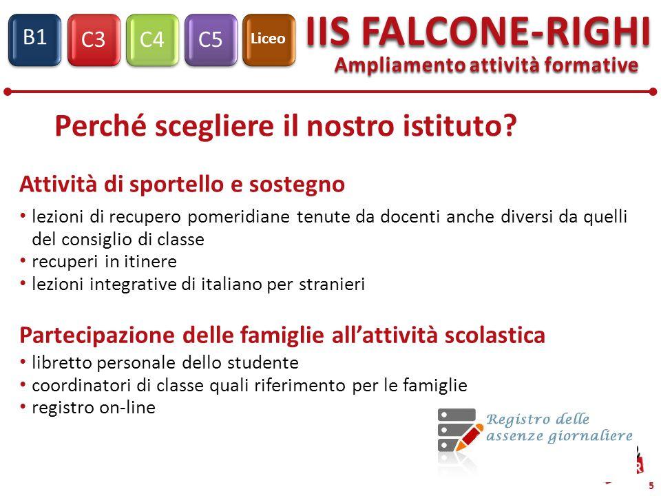 C3C4C5 IIS FALCONE-RIGHI S1 B1 Liceo Si ringrazia per l'attenzione Si ringrazia per l'attenzione www.iisfalcone-righi.it www.iisfalcone-righi.it
