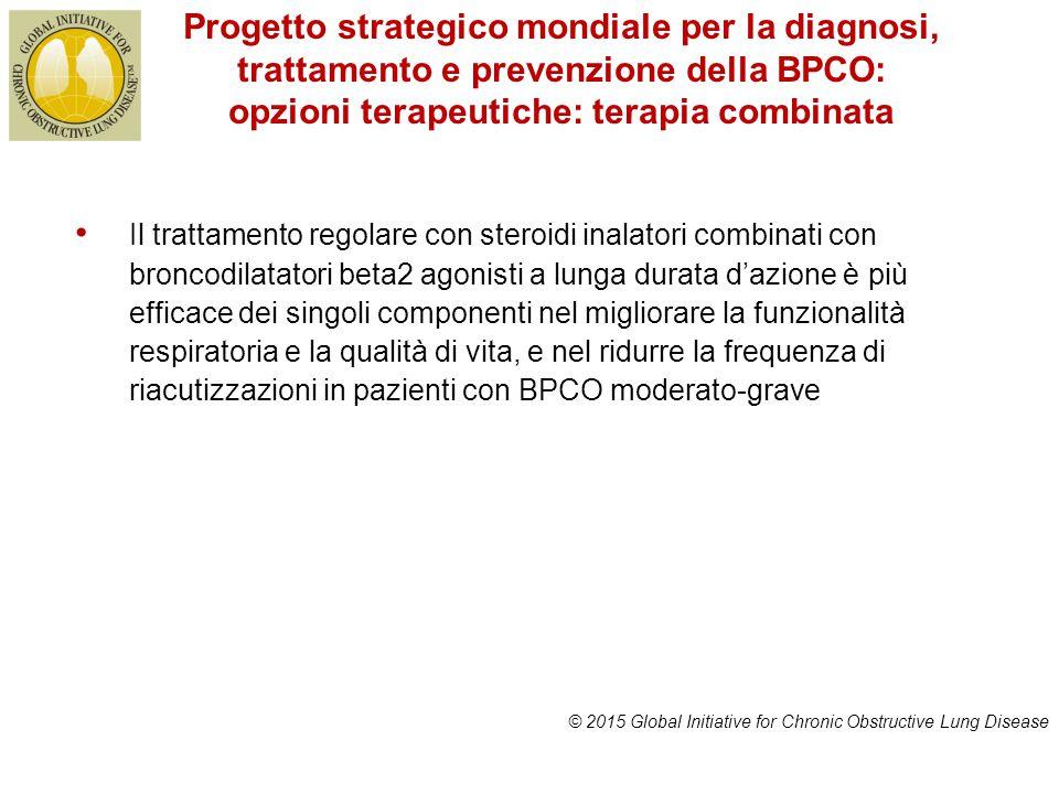 Progetto strategico mondiale per la diagnosi, trattamento e prevenzione della BPCO: opzioni terapeutiche: terapia combinata © 2015 Global Initiative f