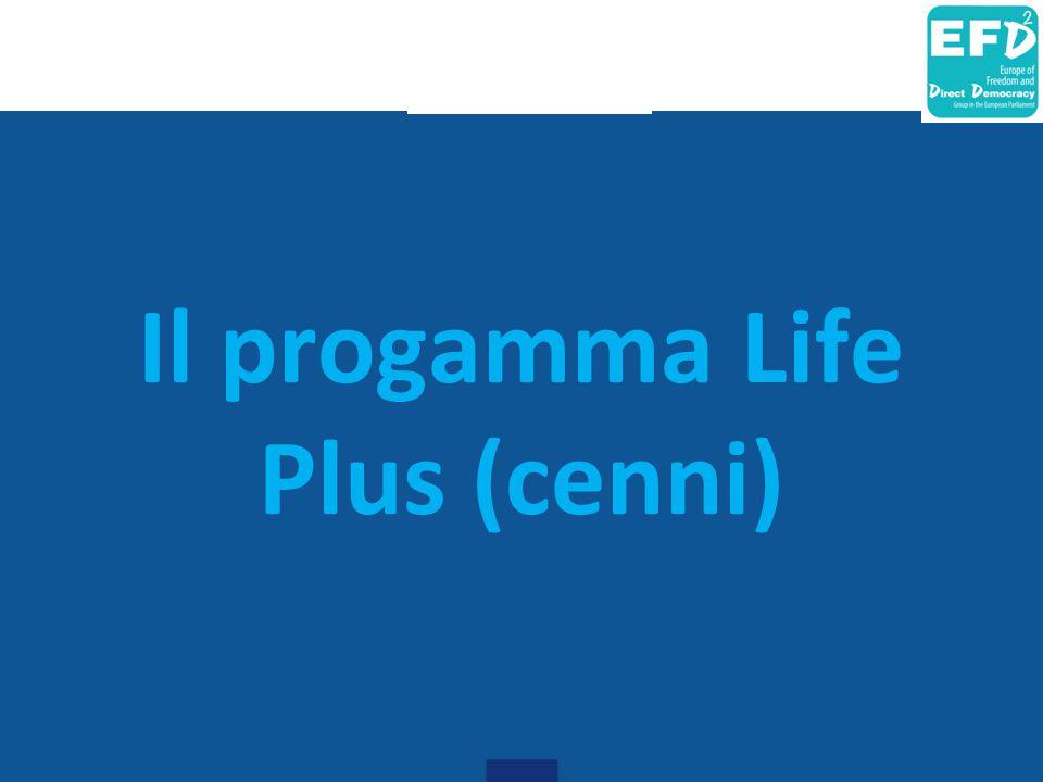 Il progamma Life Plus (cenni)