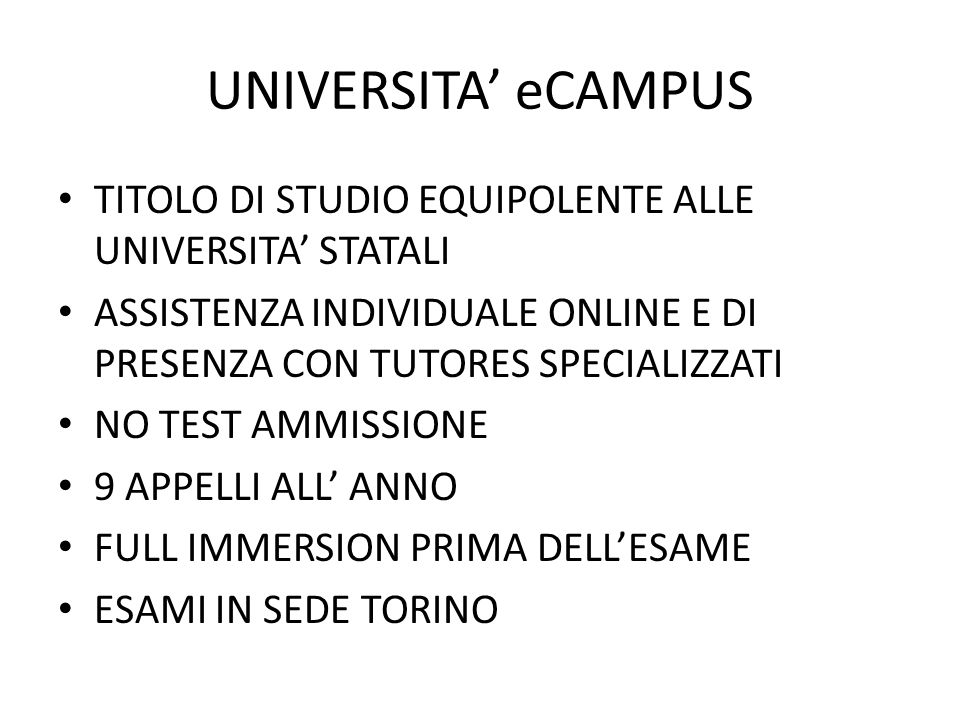 Parte seconda Università eCampus 23