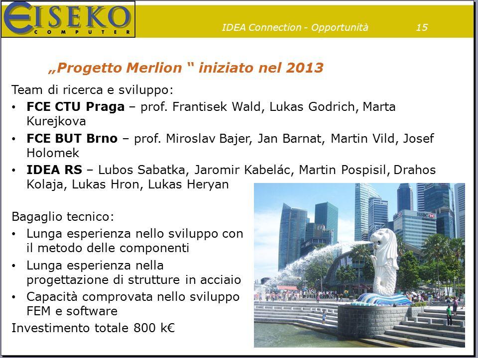 """Progetto Merlion "" iniziato nel 2013 Team di ricerca e sviluppo: FCE CTU Praga – prof. Frantisek Wald, Lukas Godrich, Marta Kurejkova FCE BUT Brno –"