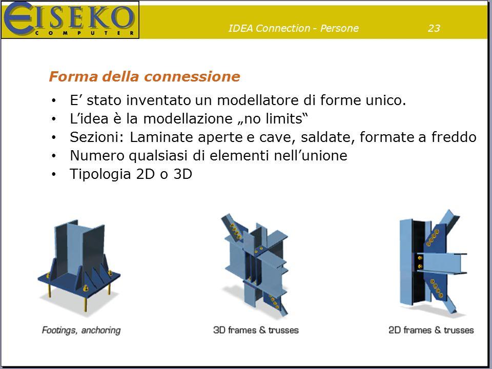 """Forma della connessione E' stato inventato un modellatore di forme unico. L'idea è la modellazione """"no limits"""" Sezioni: Laminate aperte e cave, saldat"""