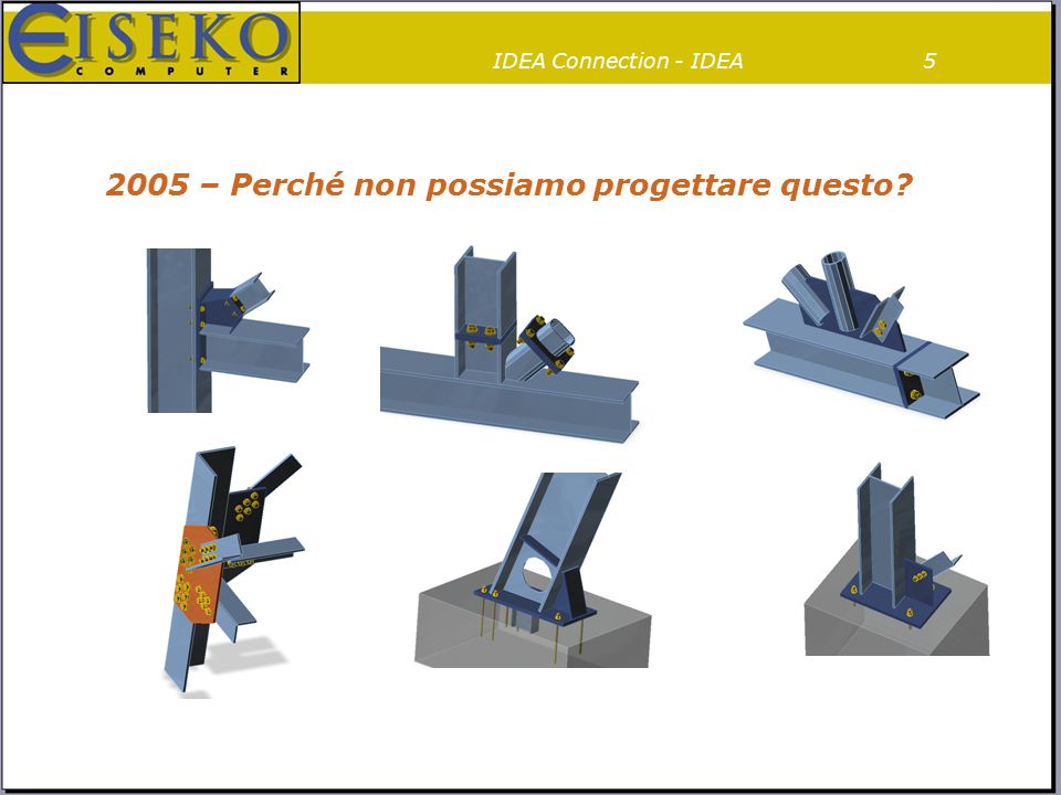 IDEA Connection – Progetto Pilota26 IDEAImpulsoOpportunitàPersoneProgetto PilotaFeedbackUn ultimo sforzoSoluzioneConquista Brevetto mondiale Generale, veloce, semplice Metodo CBFEM IDEA Connection