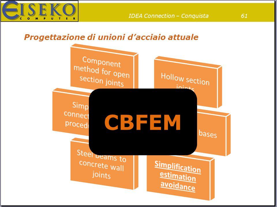 Progettazione di unioni d'acciaio attuale 61IDEA Connection – Conquista CBFEM