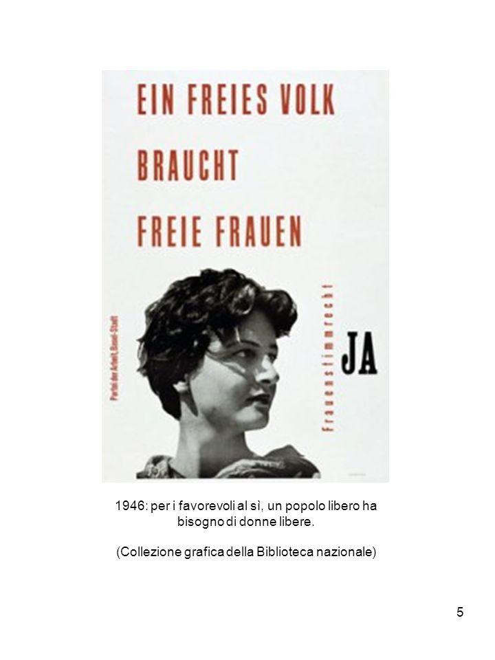 5 1946: per i favorevoli al sì, un popolo libero ha bisogno di donne libere.