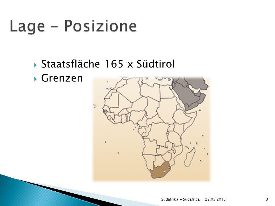  Staatsfläche 165 x Südtirol  Grenzen 22.05.2015 Südafrika - Sudafrica3