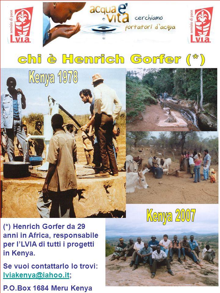 (*) Henrich Gorfer da 29 anni in Africa, responsabile per l'LVIA di tutti i progetti in Kenya.