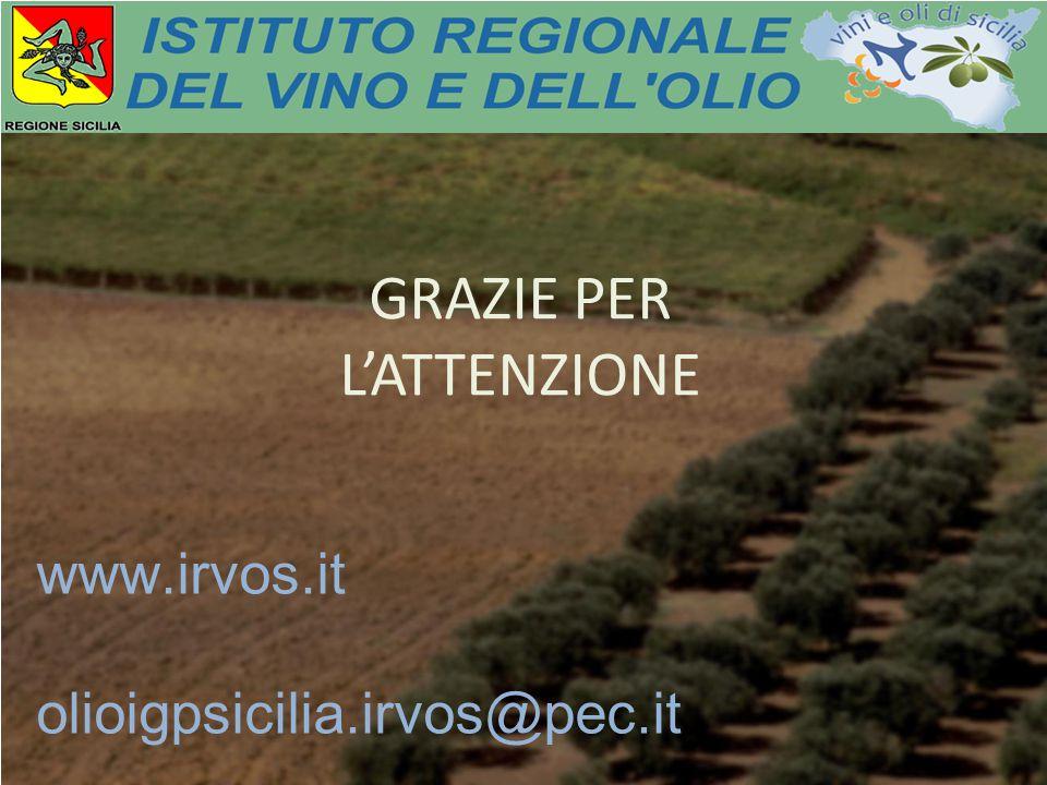 GRAZIE PER L'ATTENZIONE www.irvos.it olioigpsicilia.irvos@pec.it