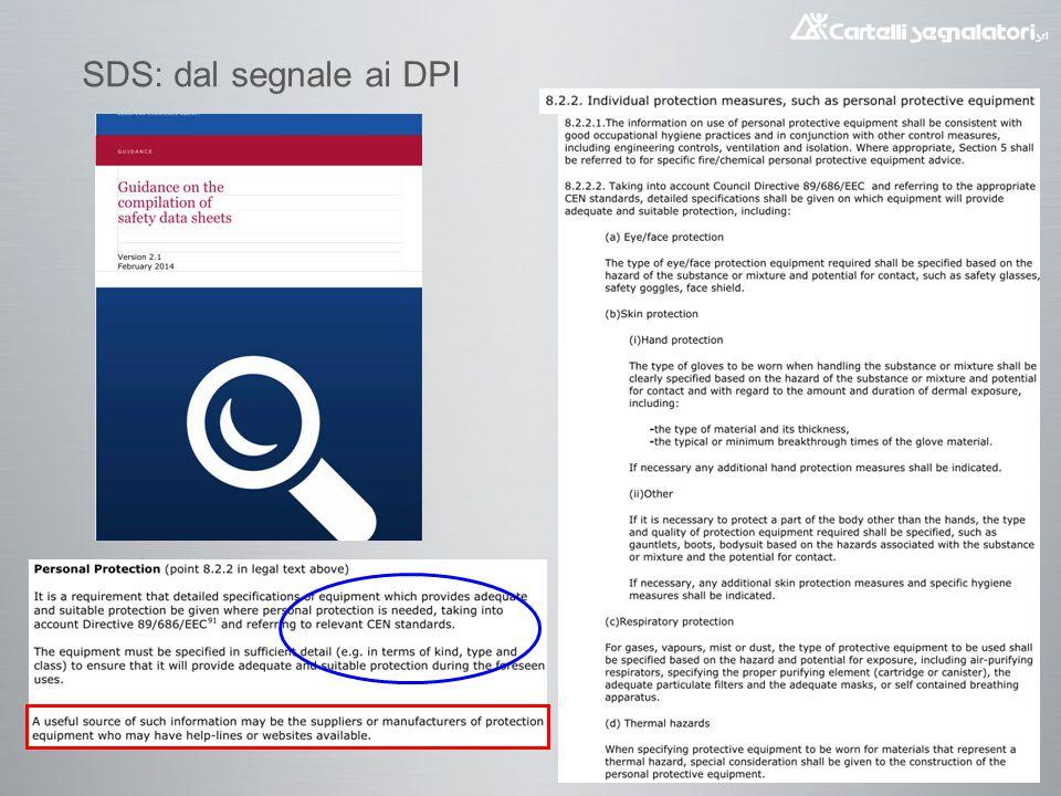 SDS: dal segnale ai DPI