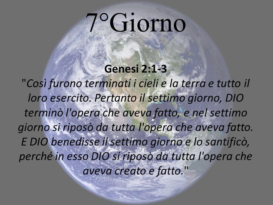 7°Giorno Genesi 2:1-3