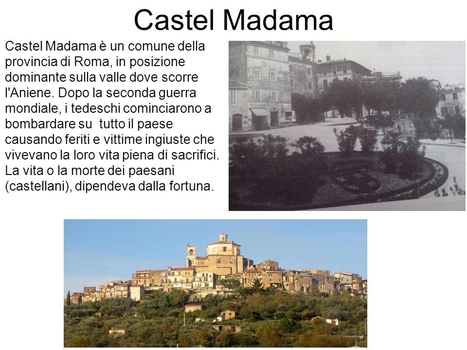 Castel Madama Castel Madama è un comune della provincia di Roma, in posizione dominante sulla valle dove scorre l'Aniene. Dopo la seconda guerra mondi