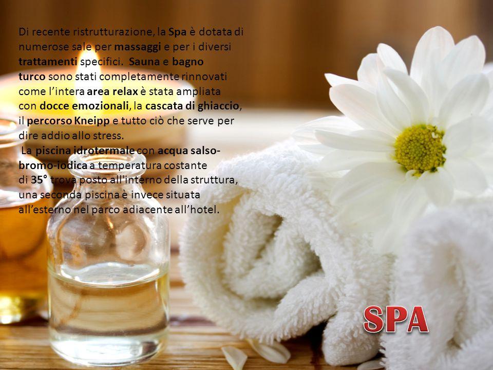 Di recente ristrutturazione, la Spa è dotata di numerose sale per massaggi e per i diversi trattamenti specifici.