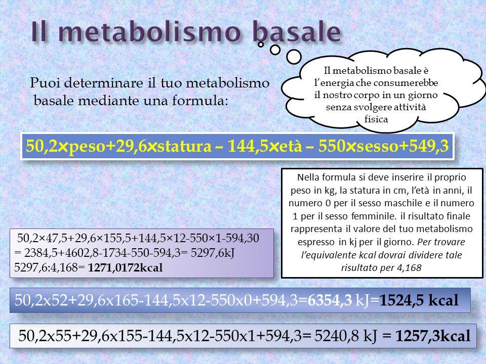 50,2×47,5+29,6×155,5+144,5×12-550×1-594,30 = 2384,5+4602,8-1734-550-594,3= 5297,6kJ 5297,6:4,168= 1271,0172kcal 50,2×47,5+29,6×155,5+144,5×12-550×1-59