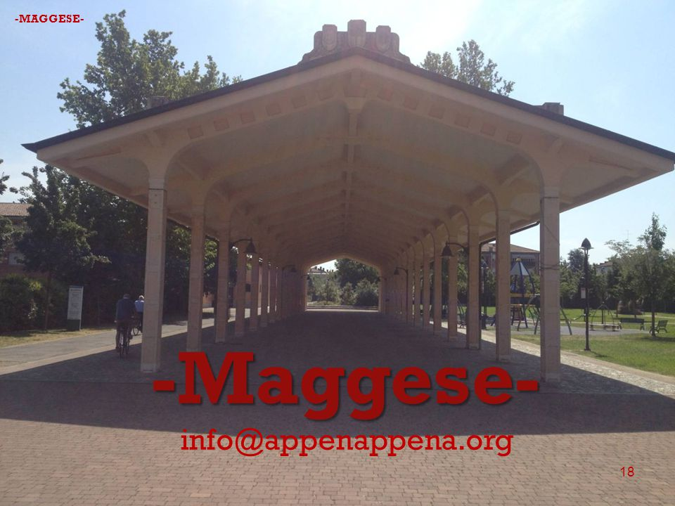 -Maggese- info@appenappena.org 18 -MAGGESE-